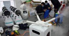 رباتها در بیمارستانهای چین در مقابله با کرونا